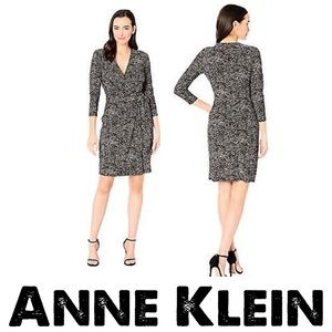 Anne Klein XS Black & White Dress Polka Stretchy
